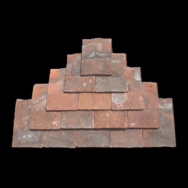 "Hand made clay plain tile 11"" x 7"""