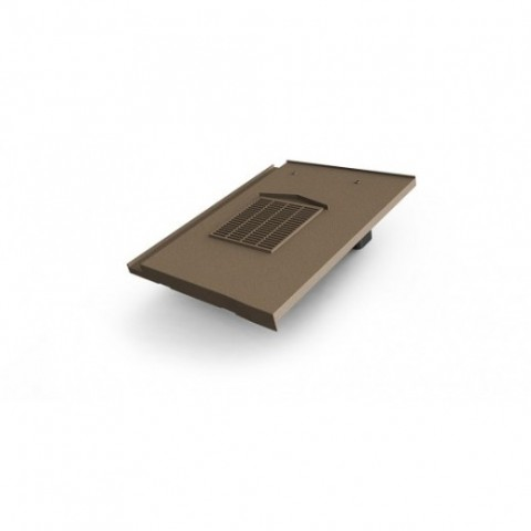 Glidevale In-line® Universal Flat Interlocking Tile Ventilator – Brown