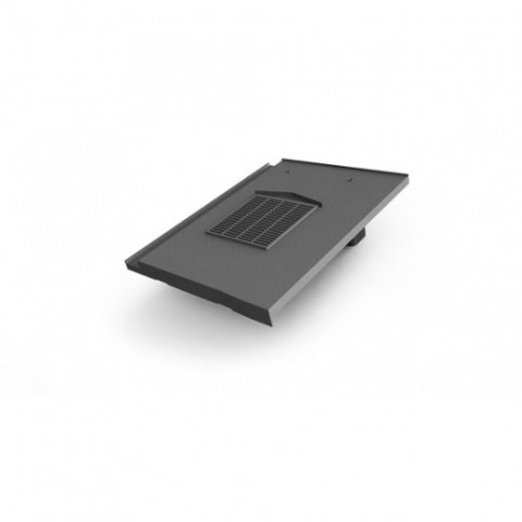 Glidevale In-line® Universal Flat Interlocking Tile Ventilator – Grey