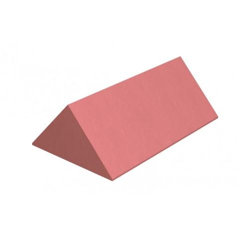 Marley Clay 450mm plain angle ridge stop end