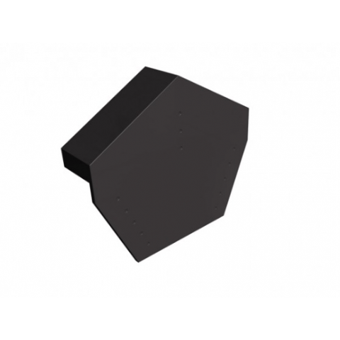 Protect Universal Angle Ridge Cap for Dry Verge – Black (2 Per Pack)