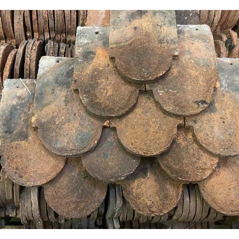 Reclaimed ornamental kent peg tile